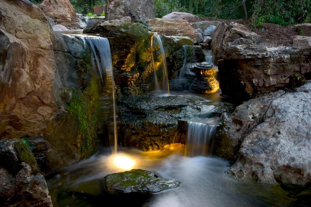 Have Your LED Landscape Lighting Professionally Installed by Acorn Ponds & Waterfalls
