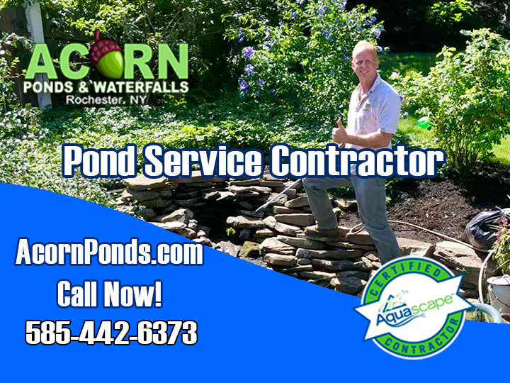 Waterfall-Pond-Service-Contractor Rochester NY